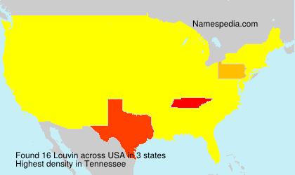 Surname Louvin in USA