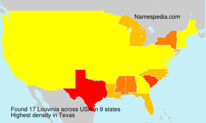Surname Louvinia in USA