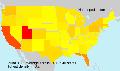 Surname Loveridge in USA