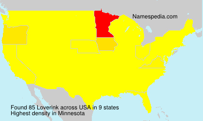 Surname Loverink in USA