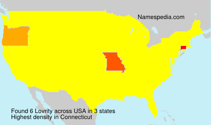 Surname Lovrity in USA