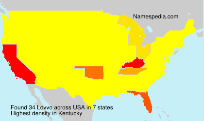Surname Lovvo in USA
