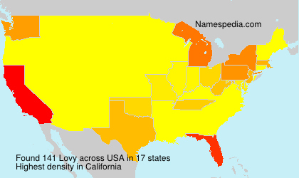 Surname Lovy in USA