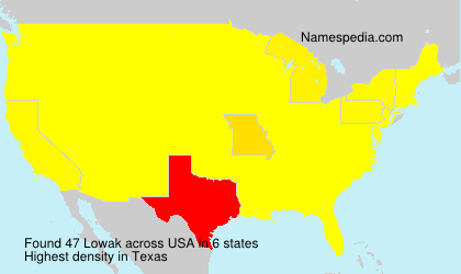 Surname Lowak in USA