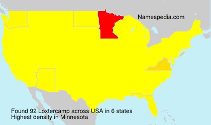 Familiennamen Loxtercamp - USA