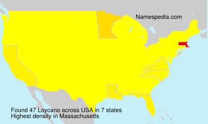 Surname Loycano in USA