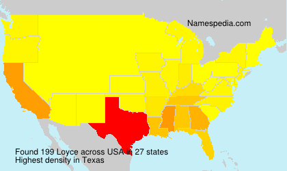 Surname Loyce in USA