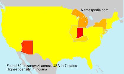 Surname Lozanovski in USA