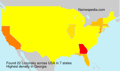 Surname Lozynsky in USA