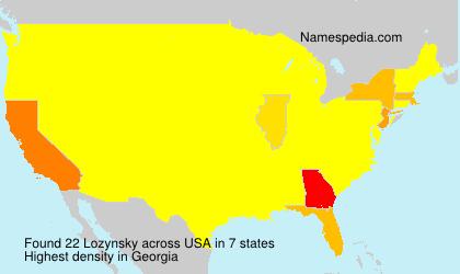 Surname Lozynsky in USA