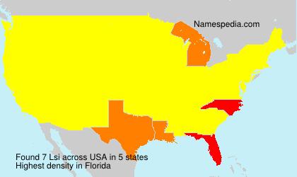 Familiennamen Lsi - USA