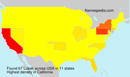 Surname Lubak in USA