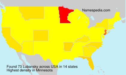 Familiennamen Lubansky - USA