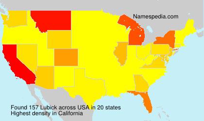 Familiennamen Lubick - USA