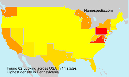 Surname Lubking in USA