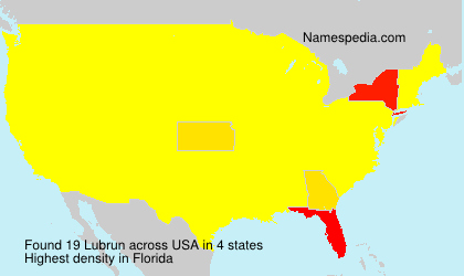 Surname Lubrun in USA