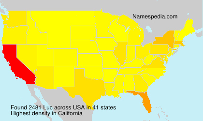 Surname Luc in USA