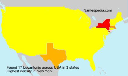 Familiennamen Lucantonio - USA