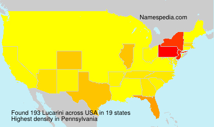 Surname Lucarini in USA