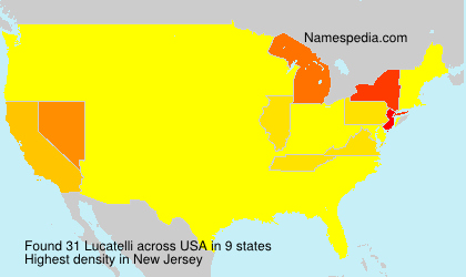 Surname Lucatelli in USA