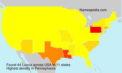 Surname Luccia in USA