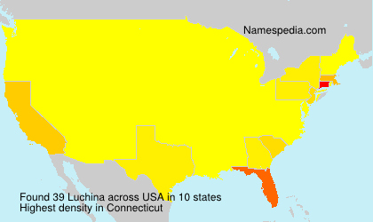 Surname Luchina in USA