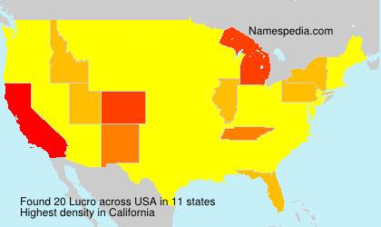 Surname Lucro in USA