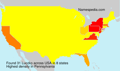 Surname Luczko in USA