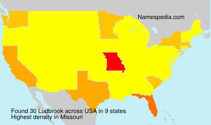 Surname Ludbrook in USA