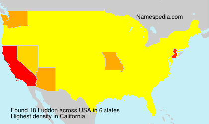 Surname Luddon in USA