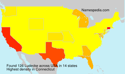 Surname Ludecke in USA