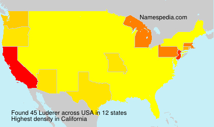 Surname Luderer in USA