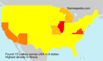 Surname Ludkey in USA
