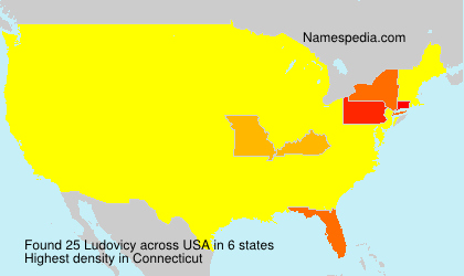 Surname Ludovicy in USA