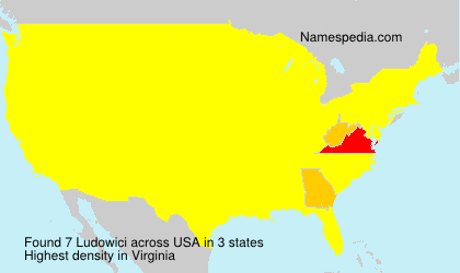 Surname Ludowici in USA