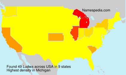Surname Ludwa in USA