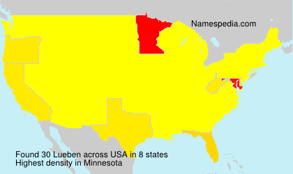 Surname Lueben in USA