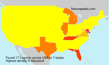 Surname Lugonjic in USA