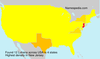 Surname Luhana in USA