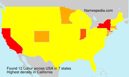 Surname Luhur in USA
