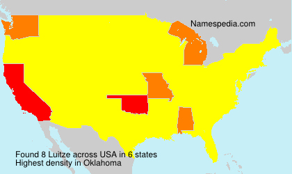 Surname Luitze in USA