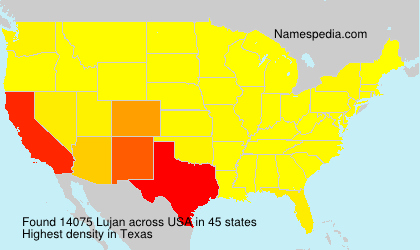 Surname Lujan in USA