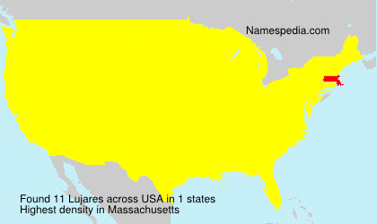 Surname Lujares in USA
