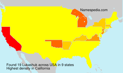 Surname Lukashuk in USA