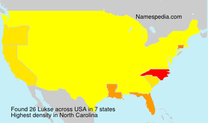Surname Lukse in USA