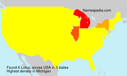 Surname Lukuc in USA