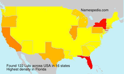 Surname Lulo in USA
