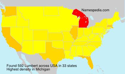 Familiennamen Lumbert - USA