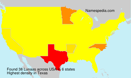 Surname Lunaas in USA