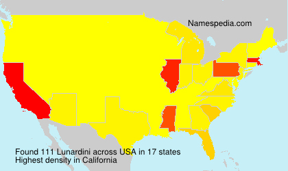 Surname Lunardini in USA